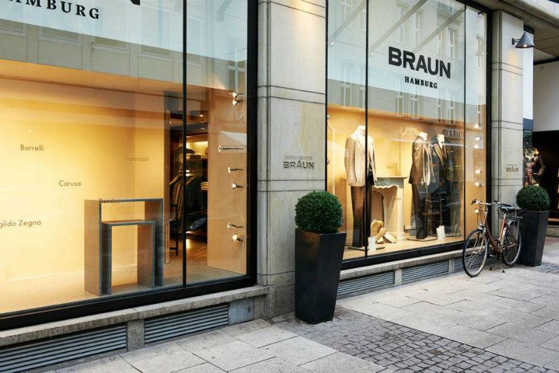 Beispiel: Ladengeschäft in Hamburg, Foto: Braun Hamburg.