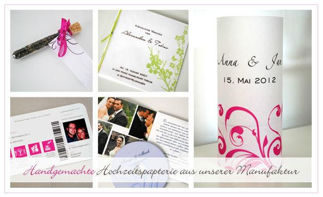 Beispiel: Handgemachte Hochzeitspapterie, Foto: Printsonalities.