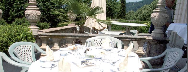 Beispiel: Feiern auf der Terrasse, Foto: Villa Raczynski.