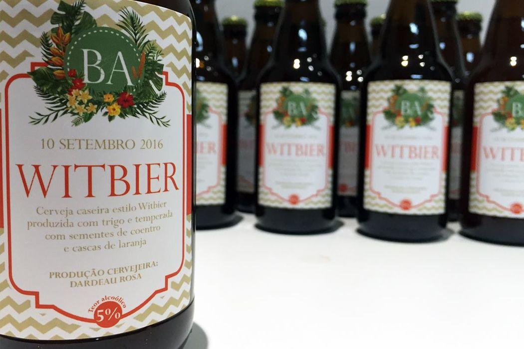 Bruna e Alex - Cerveja artesanal feita especialmente para o casamento