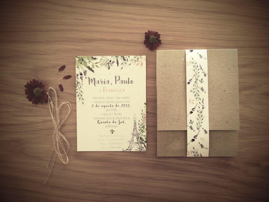 Convite rústico-floral-temático