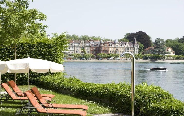 Beispiel: Seeterrasse, Foto: Steigenberger Inselhotel Konstanz.