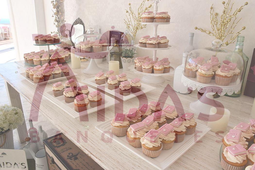 Mesa de cupcakes, diseñada