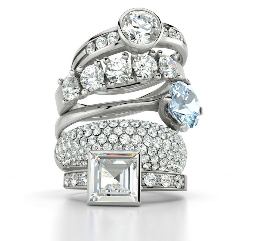 Beispiel: Verlobungsringe Foto: 21 Diamonds.