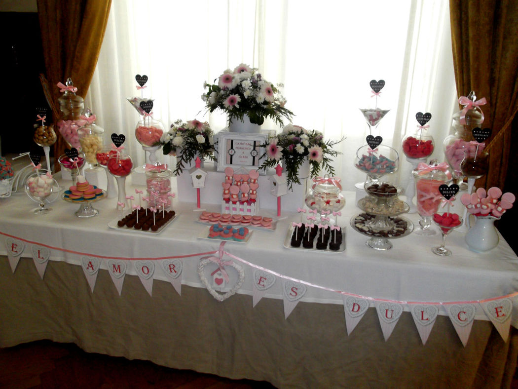 Candy bar muy romantico