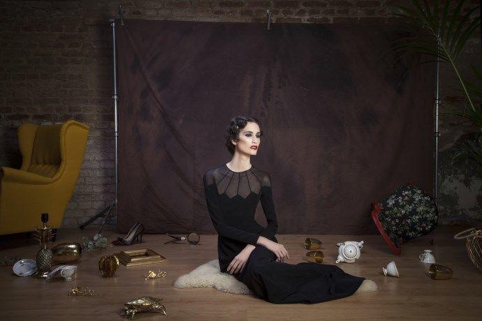Vestido de fiesta de Cristina Piña, colección Five O'Clock.