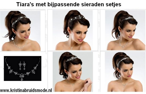www.kristinabruidsmode.nl Bruidshaar accessoires tiara