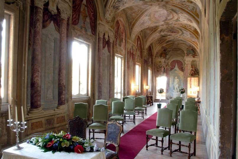 Park Hotel Villa Grazioli: Allestimento della Galleria del Pannini per la cerimonia simbolica