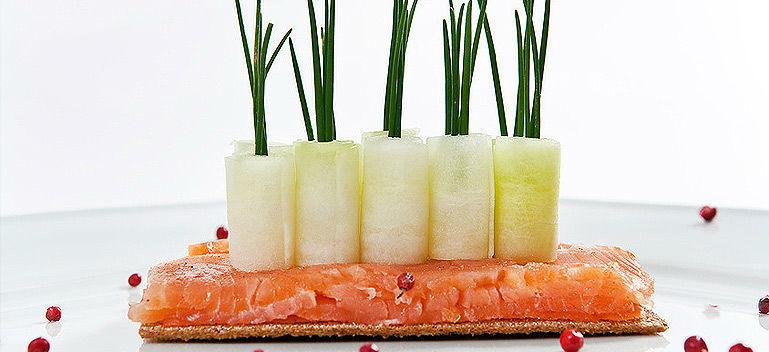 Beispiel: Kulinarische Genüsse fantasievoll angerichtet, Foto: Select Catering.