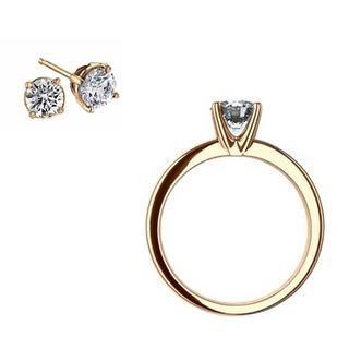 Verse Joaillerie | Alianças de Casamento, Anéis de Noivado Anel solitário e brinco ponto de luz de diamantes | VERSE Joaillerie
