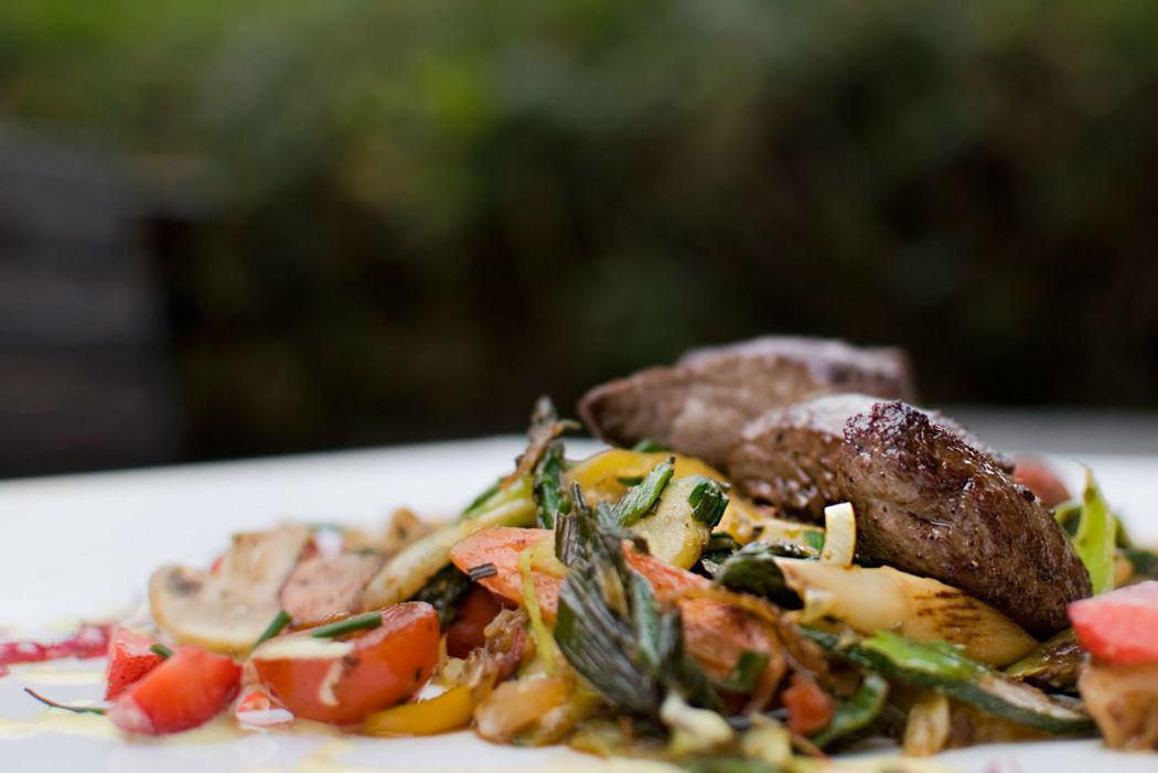 Beispiel: Serviervorschlag, Foto: Waldrestaurant St. Ottilien.