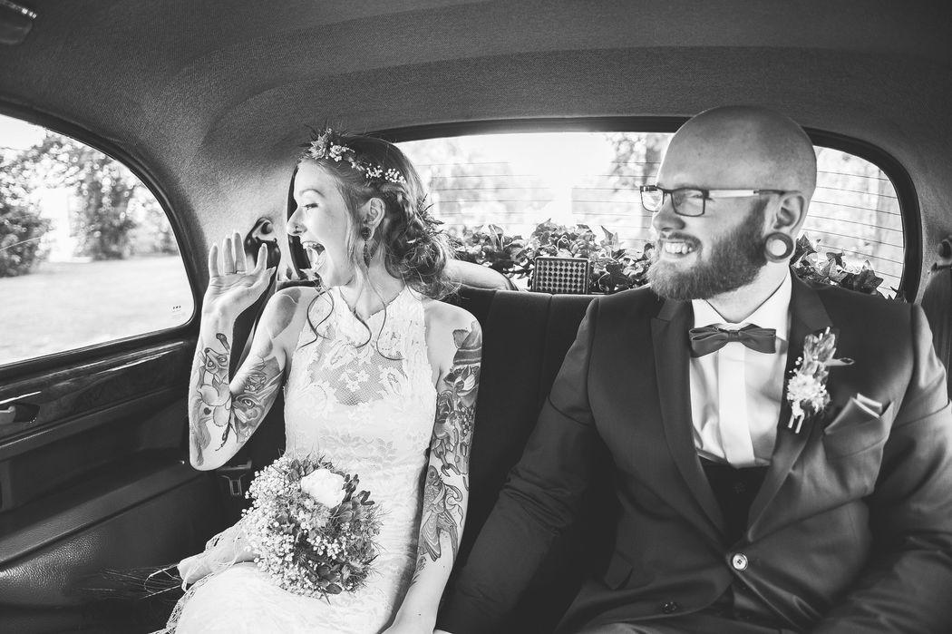 Beispiel: Eine Fahrt im London Taxi, Foto: Hochzeitsfotografie Thomas Göbert