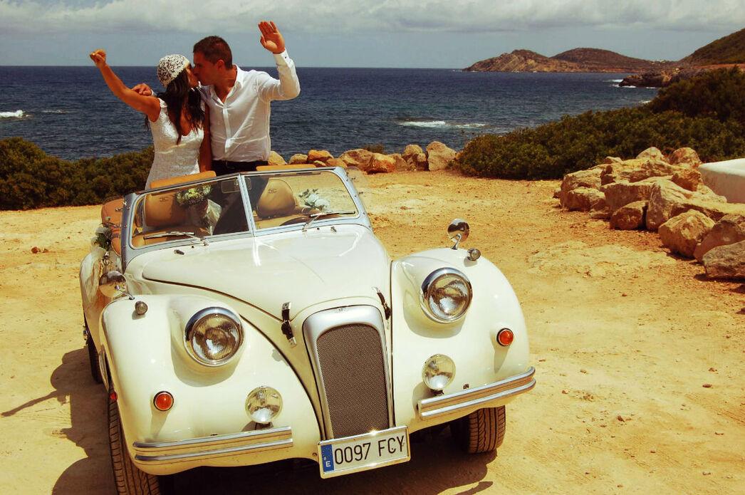 Sesión de fotos en Ibiza con el Albaycín Blanco.