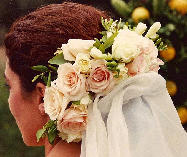 Adornos florales para la novia