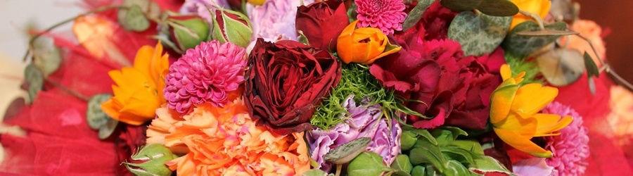 Beispiel: Frische Blumen, Foto: Blumen Stieber.