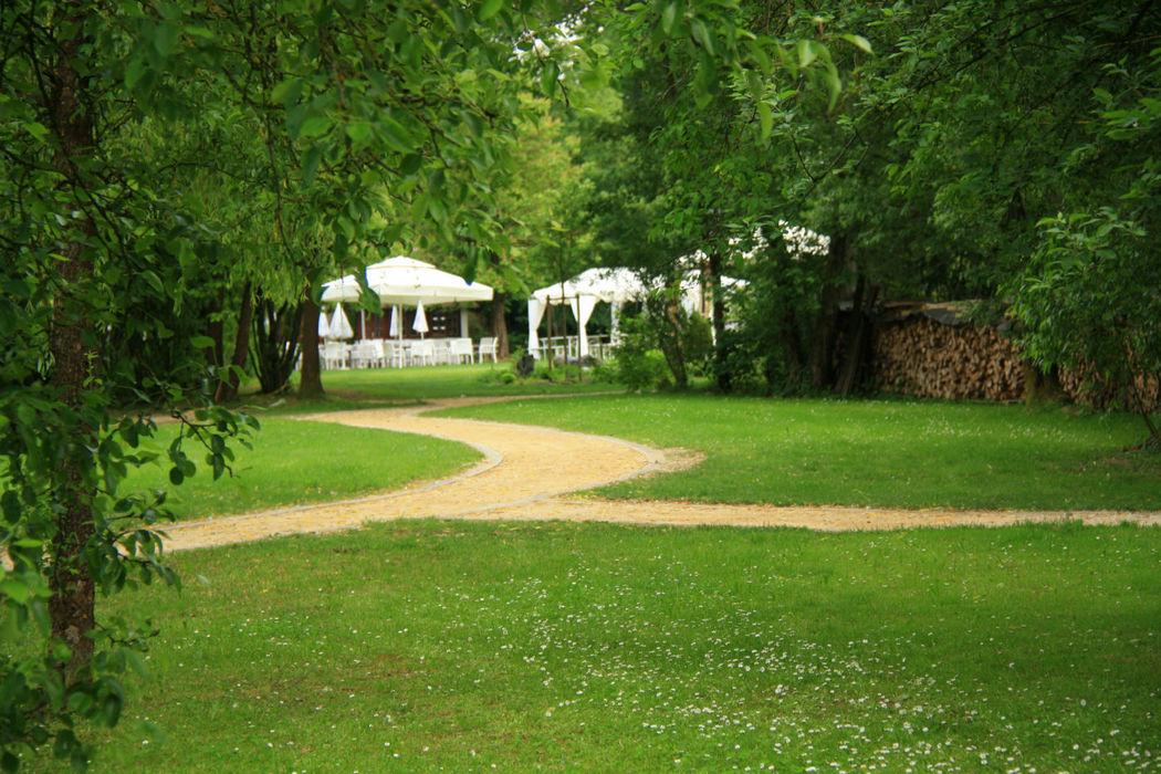 Beispiel: Hochzeit in wunderschöner Parkanlage, Foto: Parkhotel Schmid.