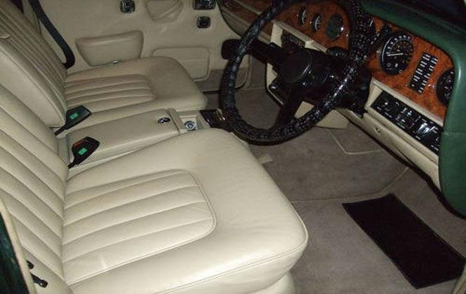 Beispiel: Der Rolls Royce von innen, Foto: Oldtimer Paradies.