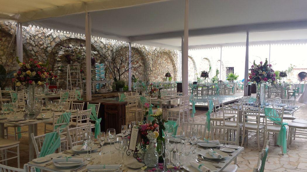 Banquetes Hacienda el Jaguey en Puebla-diferentes montajes