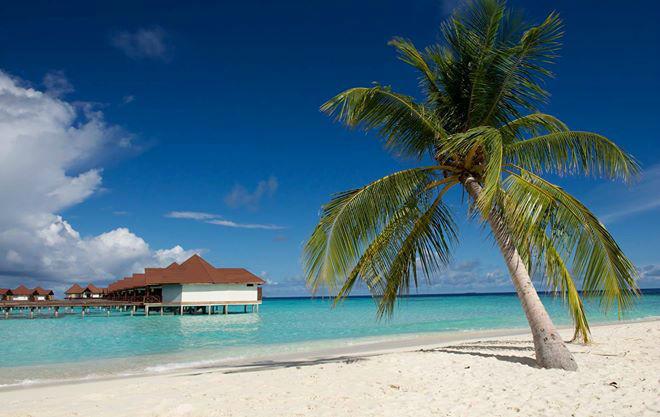 Beispiel: Strand auf den Malediven, Foto: Robinson Club.