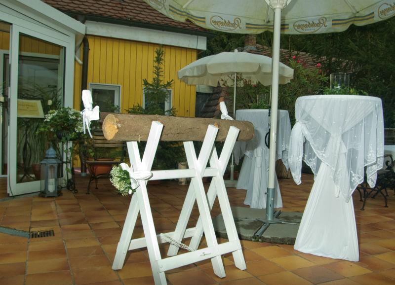 Beispiel: Baustamm auf Terrasse, Foto: Fischhaus.