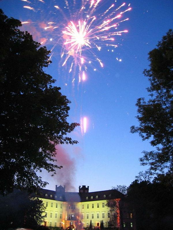 Beispiel: Feuerwerk, Foto: Schloss Lübbenau.