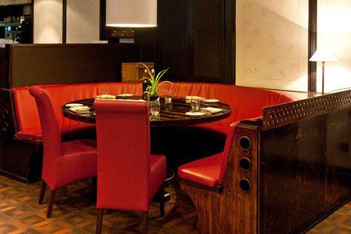 Beispiel: Restaurant - Sitzecke, Foto: Gasthaus Backmulde.