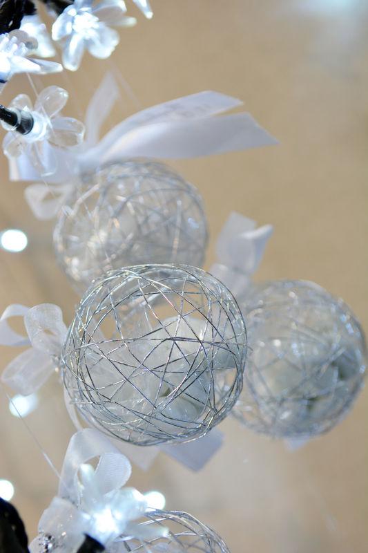 Le Palais des Dragées Boule en métal strass