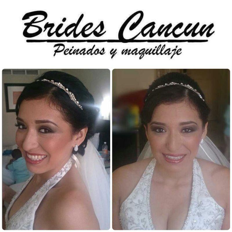 Cada una de las novias con su estilo. natural, sofisticada, romantica al final todas contentas con el trabajo realizado