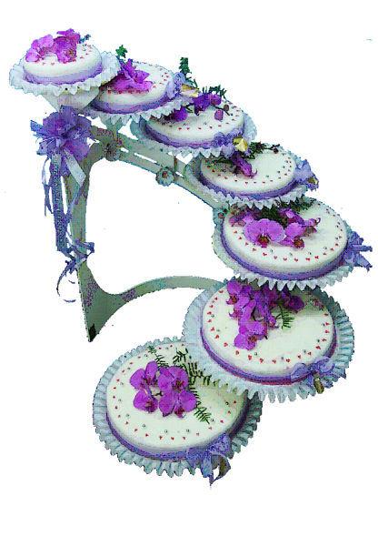 Beispiel: Hochzeitstorte: Orchidee, Foto: Mandelbärli.