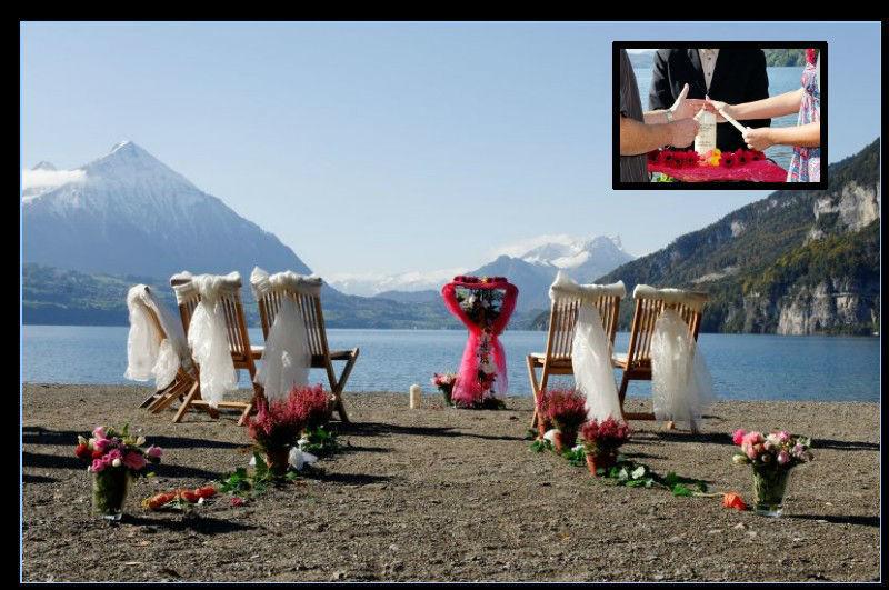 Beispiel: Ihre Hochzeit an traumhaften Orten, Foto: Switzerland Wedding Company.