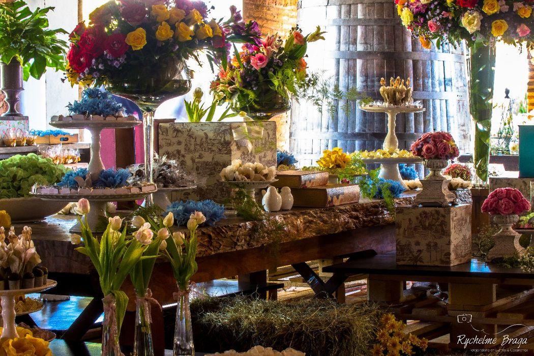 Toca Fina Cozinha Mesa de Doces e Chocolates Casamento