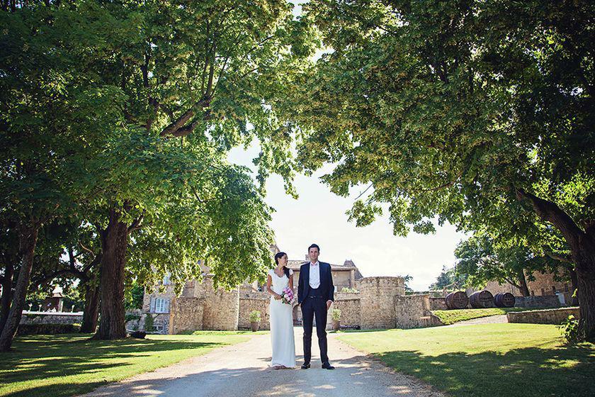 Séance photo des mariés - Allée principale