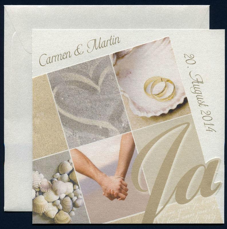 Beispiel: Hochzeitseinladungen, Foto: Die Hochzeitsplaner.