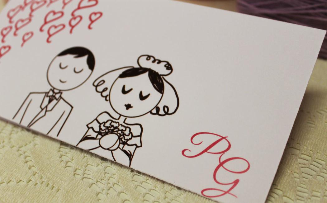 Coi Fiocchi wedding design - partecipazione di nozze illustrata