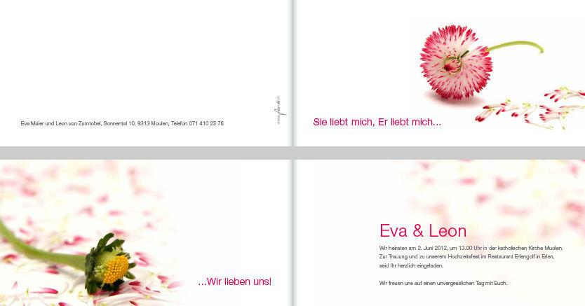 Beispiel: Hochzeitskarte, Foto: für-di.ch.