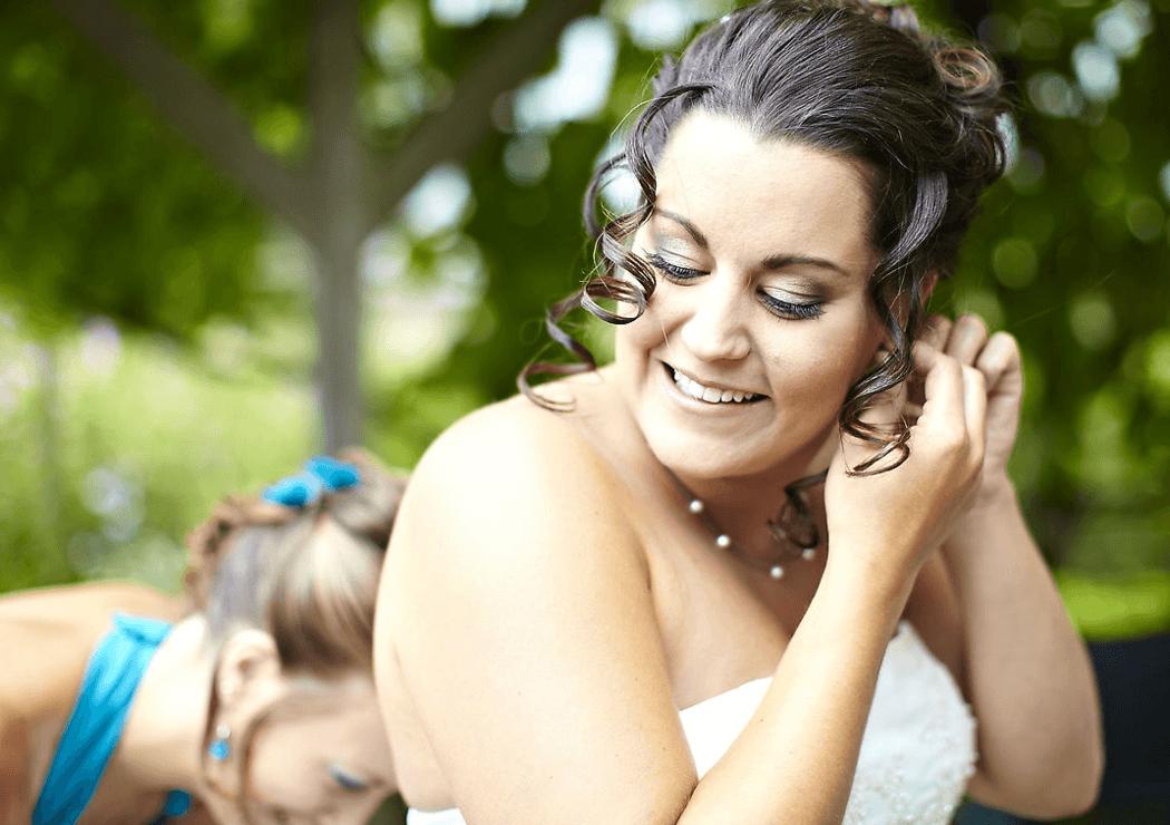 Beispiel: Braut, Foto: Kloc Make-up.