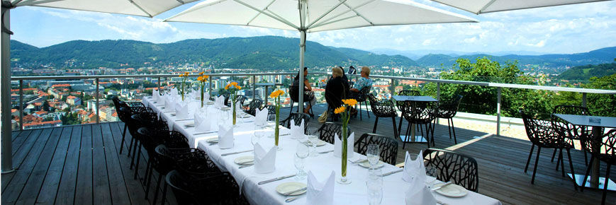 Beispiel: Terrasse, Foto: Restaurant Schlossberg.
