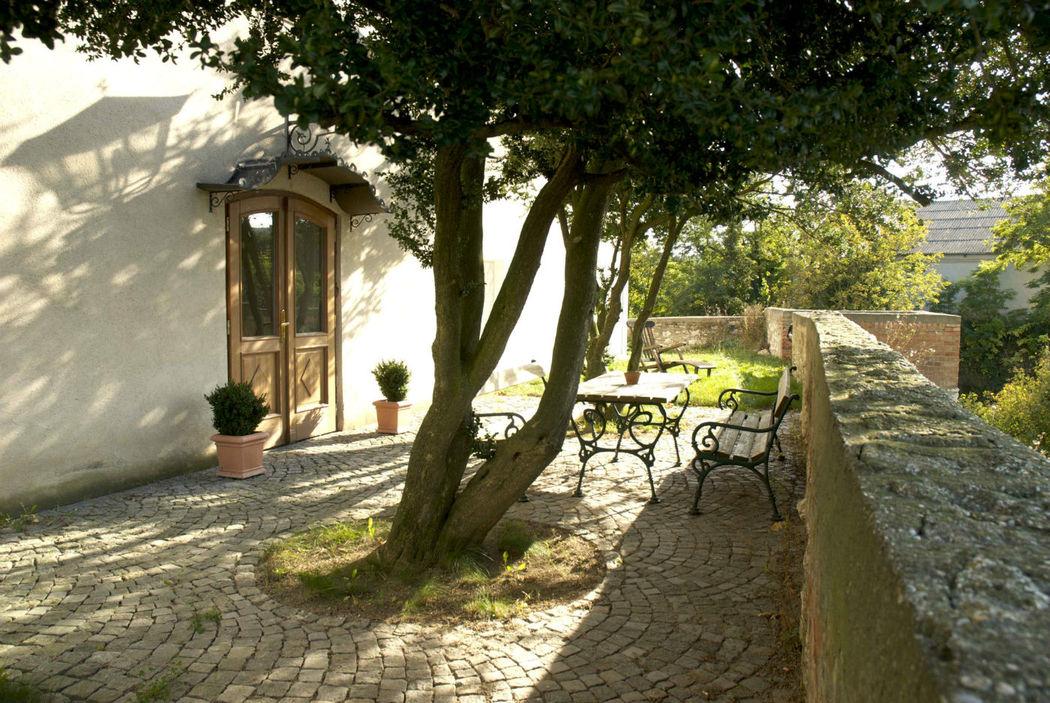Burgterrasse, Foto: Schlosshotel Mailberg.