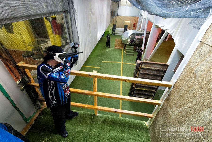 Beispiel: Spaß und Spannung, Foto: Paintballfarm.