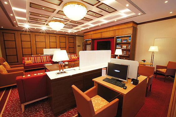 Beispiel: Business Lounge, Foto: Travel Charme Ostseehotel Kühlungsborn.
