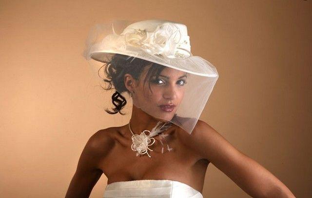 Chapeau de mariée Dejean