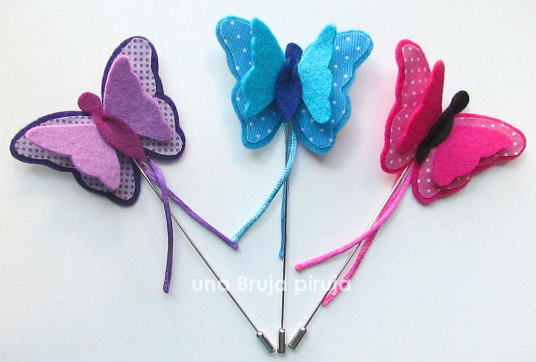 Alfileres mariposas