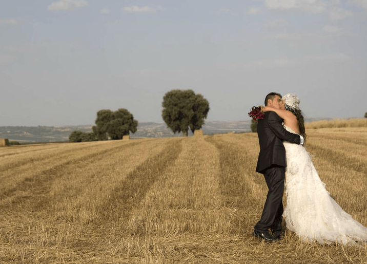 El beso de la pareja