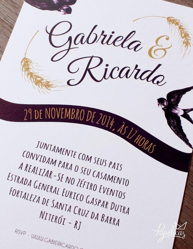 Atelier Papélicas - convite Andorinhas