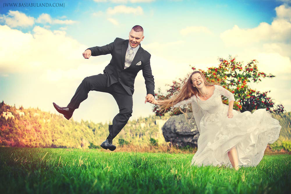 szalone zdjęcia ślubne