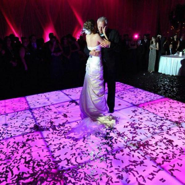 Luz y sonido para bodas, pistas iluminadas No Statics