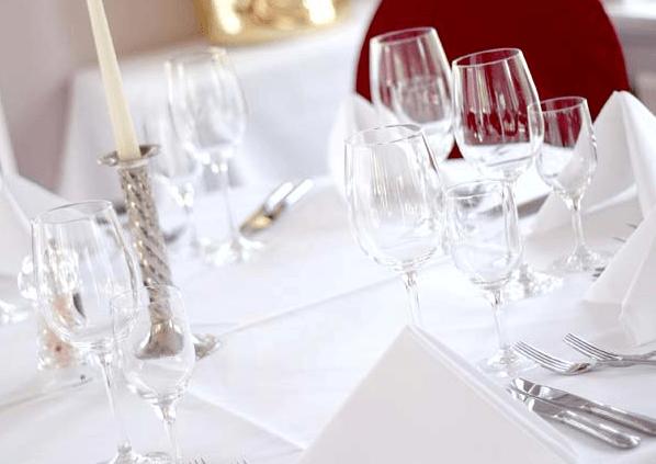 Beispiel: Tischdekoration, Foto: Meierei Bremen.