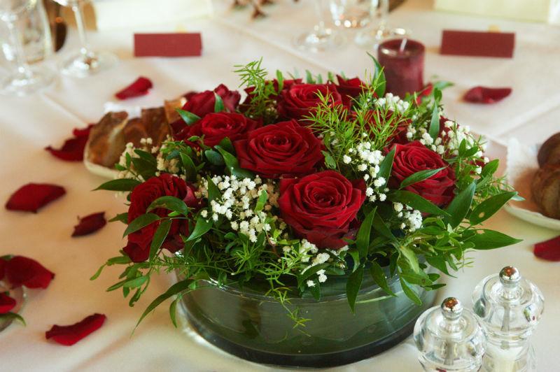Beispiel: Hochzeitsfloristik, Foto: Hussen und mehr...