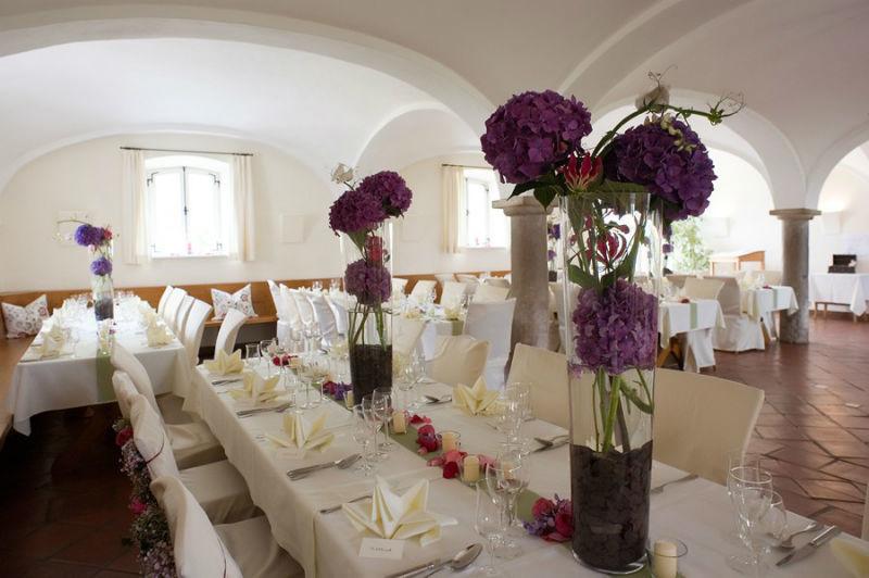 Beispiel: Hochzeitstafel, Foto: Gut Sedlbrunn.