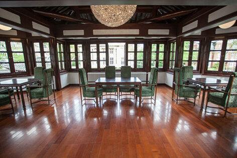 Beispiel: Pavillon Obergeschoss, Foto: Chinesisches Teehaus Yu Garden.